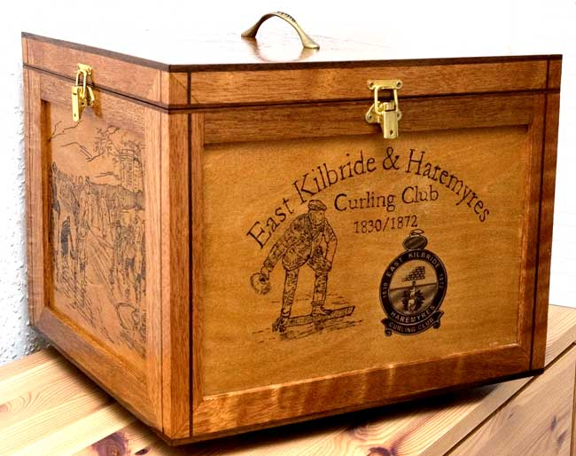 Photo of East Kilbride and Haremyres Curling Club Punch Bowl Box